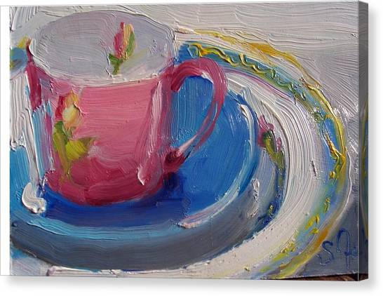 Pink Cup Canvas Print by Susan Jenkins