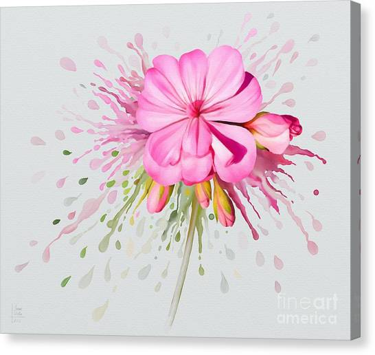 Canvas Print featuring the painting Pink Eruption by Ivana Westin