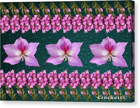 Pink Flower Arrangement Canvas Print