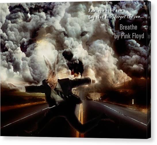 Pink Floyd Canvas Print - Pink Floyd Breathe by Yury Malkov