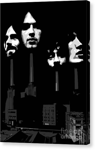 Pink Floyd Canvas Print - Pink Floyd No.02 by Geek N Rock