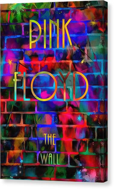 Rocker Canvas Print - Pink Floyd The Wall by Dan Sproul