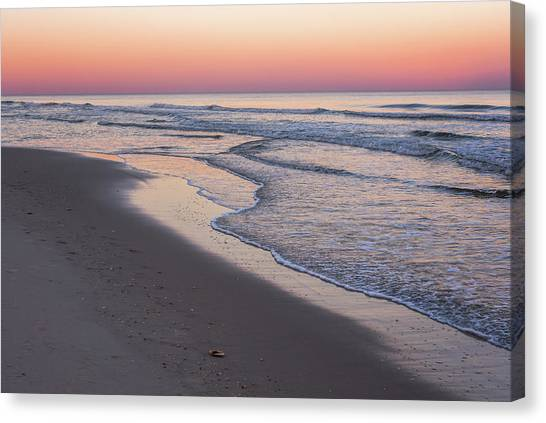 Pink Glow Seaside New Jersey 2017 Canvas Print