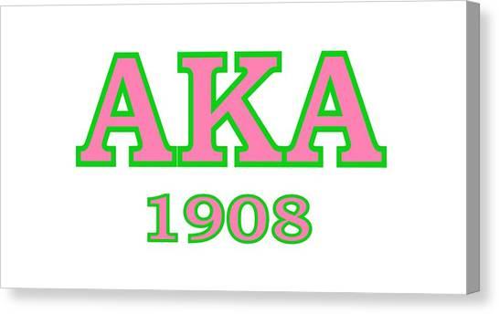 Alpha Kappa Alpha Canvas Print - Alpha Kappa Alpha 08 by Sincere Taylor