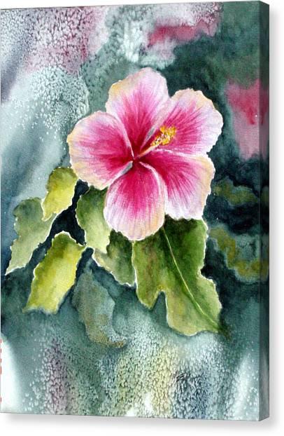 Hibiscus Canvas Print - Pink Hibiscus by Marsha Elliott
