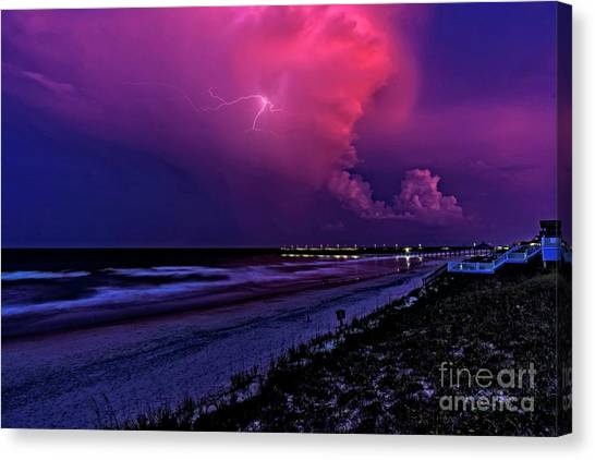 Pink Lightning Canvas Print
