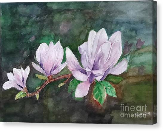 Pink Magnolia - Painting Canvas Print