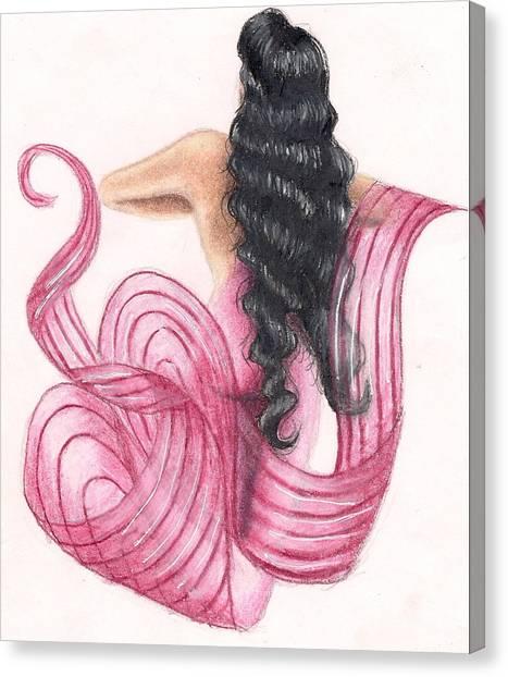 Pink Mermaid Canvas Print by Scarlett Royal