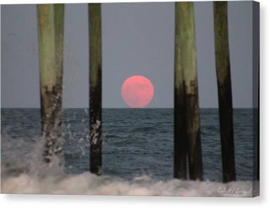 Pink Moon Rising Canvas Print