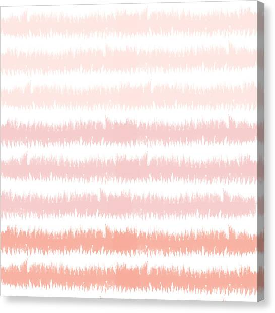 Stripe Canvas Print - Pink Ombre Ikat Stripe- Art By Linda Woods by Linda Woods