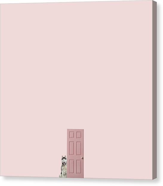 Minimal Canvas Print - Pink On The Pink by Caterina Theoharidou