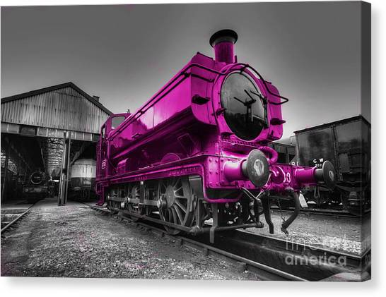 Thomas The Train Canvas Print - Pink Pannier  by Rob Hawkins