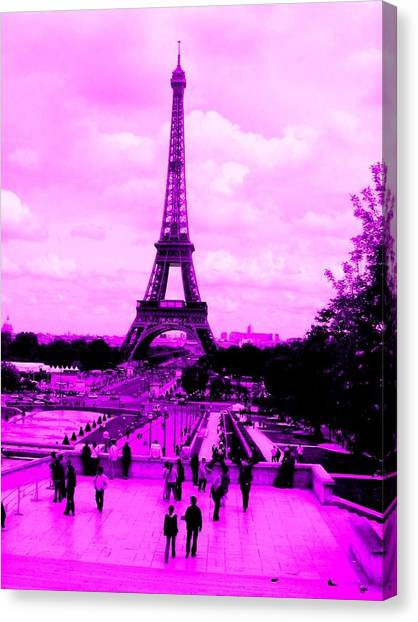 Pink Paris Canvas Print