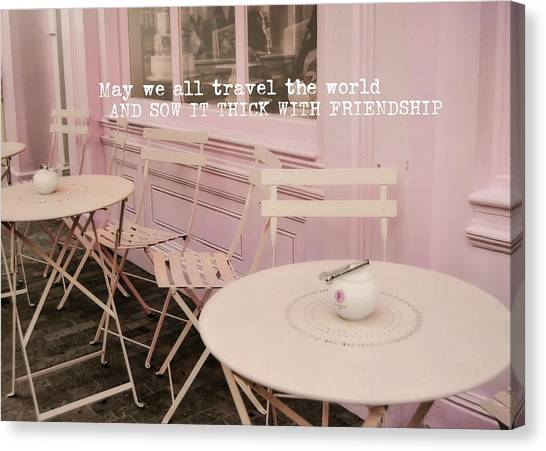 Pink Party Cakes Quote Canvas Print by JAMART Photography
