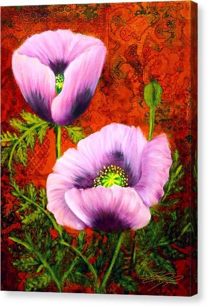 Pink Poppies Canvas Print by Lynn Lawson Pajunen