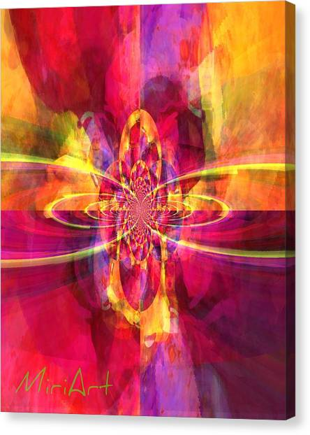 Pink Purple And Yellow Canvas Print