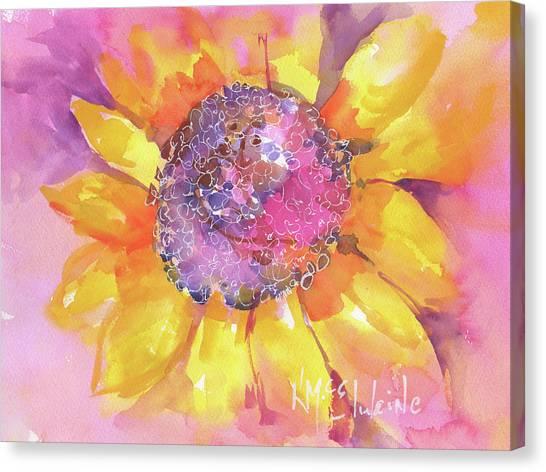 Pink Purple Yellow Sunflower  Canvas Print