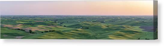 Farm Canvas Print - Blushing Sky by Jon Glaser
