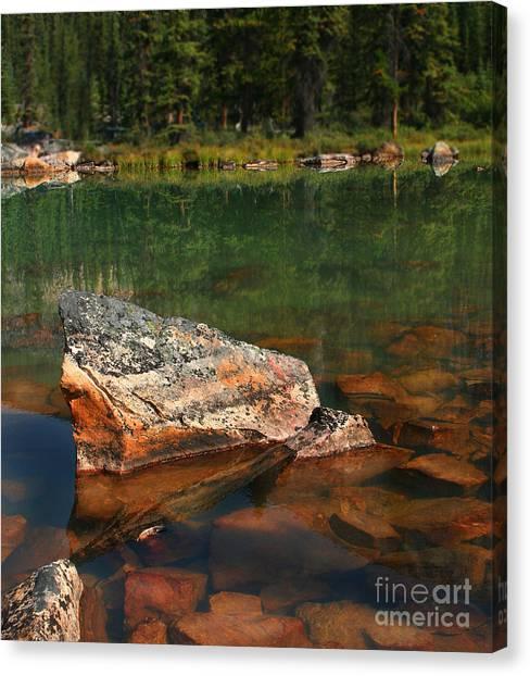 Pink Rocks Canvas Print