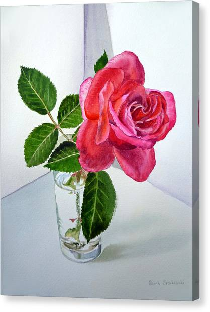 Red Roses Canvas Print - Pink Rose by Irina Sztukowski