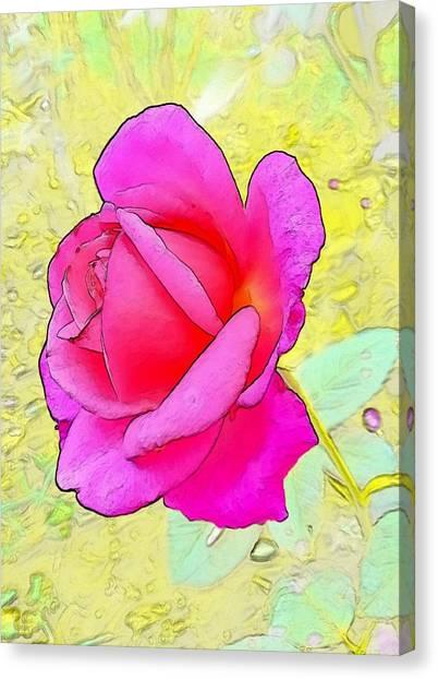 Canvas Print - Pink Rose by Kumiko Izumi