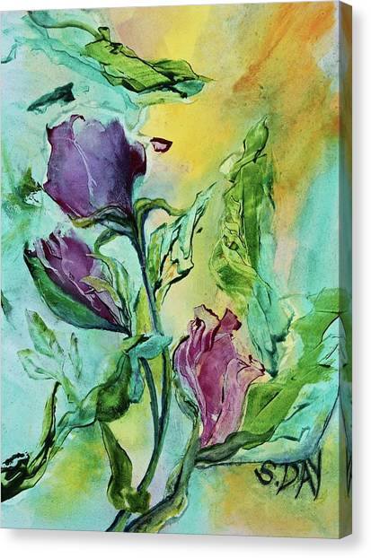Pink Rosebuds Canvas Print