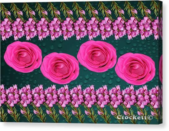 Pink Roses Floral Display Canvas Print