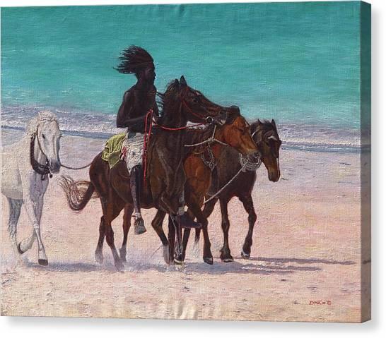 Pink Sand Rider Canvas Print