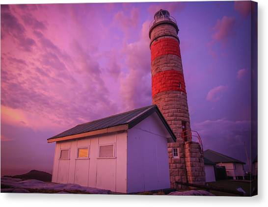 Pink Skies At Cape Moreton Lighthouse Canvas Print