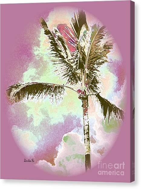 Palm Canvas Print - Pink Skies by Dorlea Ho