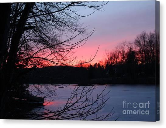 Pink Sky At Night Canvas Print