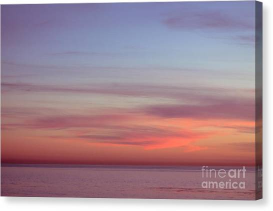 Ocean Sunsets Canvas Print - Pink Sunset by Ana V Ramirez