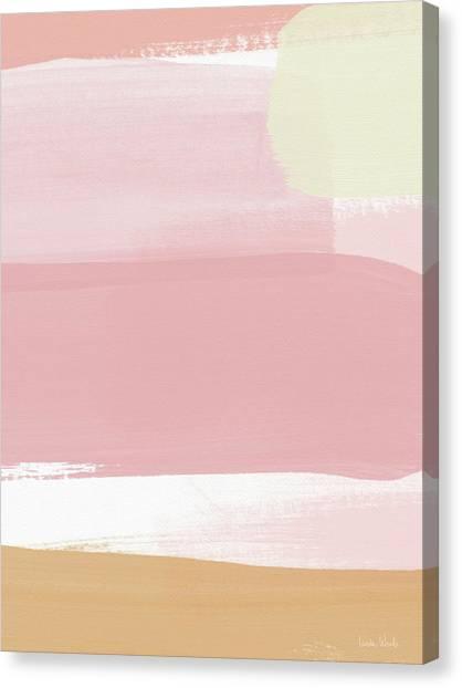 Stripe Canvas Print - Pink Sunset Stripe 1- Art By Linda Woods by Linda Woods