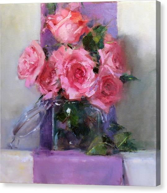 Pink Tease Canvas Print by Chris  Saper