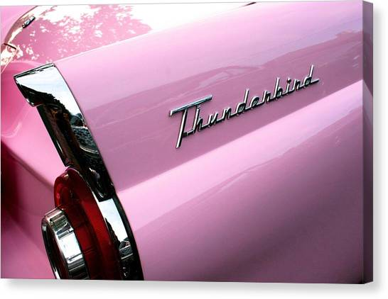 Pink Thunderbird Canvas Print