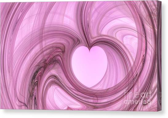 Pink Valentine Canvas Print by Isabella Shores