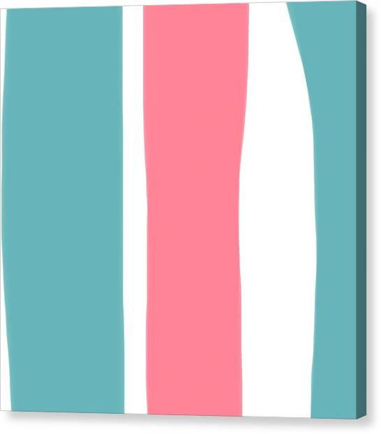 Pink White Blue 2 Canvas Print