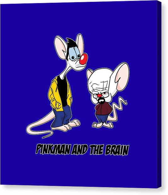 Tv Shows Canvas Print - Pinkman And The Brain Breaking Bad Parody Pinky And The Brain Parody Breaking Bad Tv Show by Paul Telling