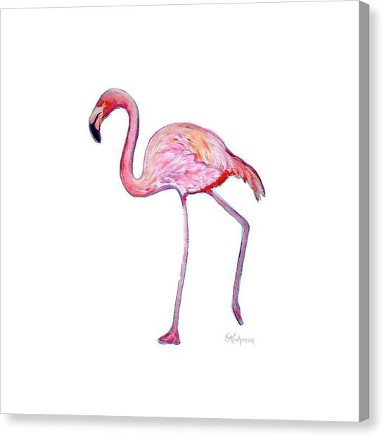 Pinky The Flamingo Canvas Print