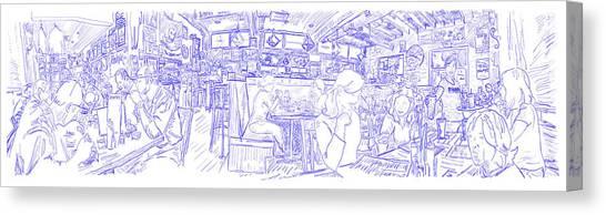 Pencil Drawing Motorcycle Canvas Print - Pinkys Sketch I by Robert Yaeger