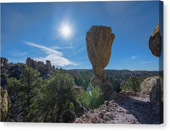Canvas Print featuring the photograph Pinnacle Rock by Dan McManus