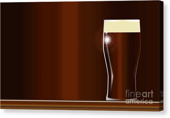 Pint Glass Canvas Print - Pint On The Bar by Bigalbaloo Stock