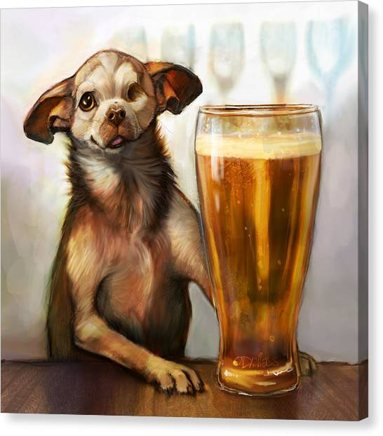 Chihuahuas Canvas Print - Pint Sized Hero by Sean ODaniels