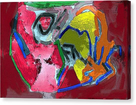 Pintura Moderna 1 Canvas Print by Carlos Camus