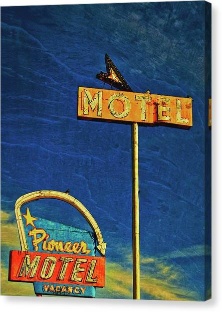 Pioneer Motel, Albuquerque, New Mexico Canvas Print by Flying Z Photography by Zayne Diamond