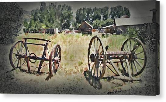 Pioneers Canvas Print - Pioneer Remnants - Pioneer Village  by Steve Ohlsen