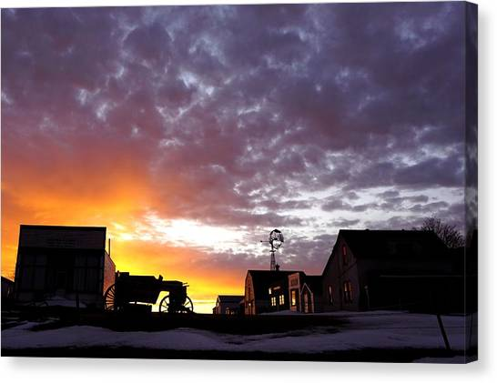 Pioneer Town Sunset Canvas Print