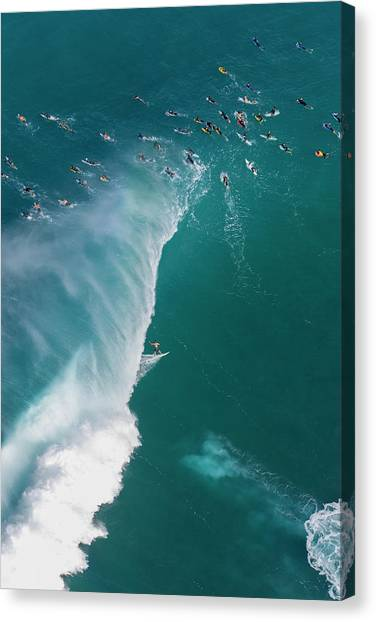 Helicopters Canvas Print - Pipe Tube Overvew by Sean Davey