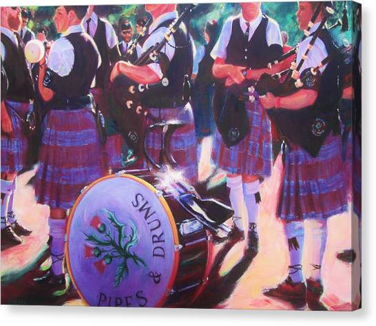 Pipes And Drums Canvas Print
