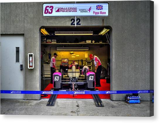 Pippa Mann Garage 2016 Canvas Print